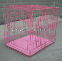 USA hotsale wire metal pink & black dog cage pet kennel