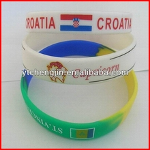 screen printing silicone wristbands/cheap thin silicone wristband watch