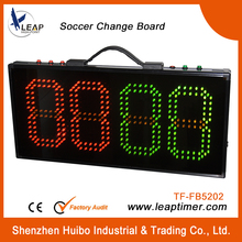 football stadium board soccer substitution board