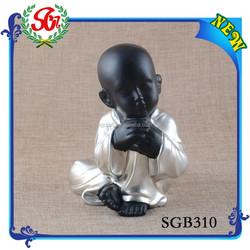 SGB310 Custom Factory Supplying Nice Silver And Black Little Buddha