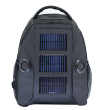Portable solar cell phone charger bag