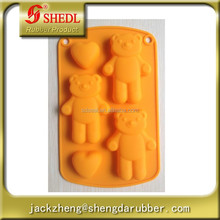 Bear and heart shape Muffin Candy Jelly Ice Silicone Mould