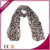Hot sell voile scarf black stripe scarves