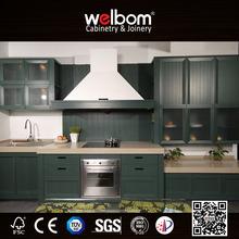 Solid Wood Green Oak Kitchen Cabinet