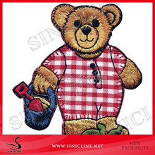 Sinicline fashion design cute animal embroidery garments patches for children's wear