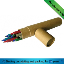 custom made cardboard pen / pencil tube paper container