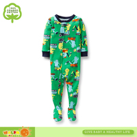 Infant Boys Long Sleeve One Piece Footed Pajamas
