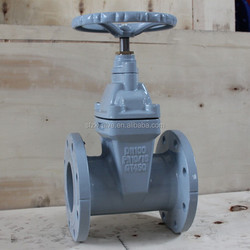 no rising stem rubber wedge gate valve/ cast iron gate valve