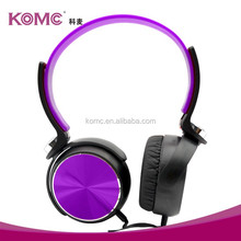 2015 top selling flexible headphones with mic stereo bass headsets over head made in China