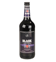 Black Vodka 1 litre / 1000ml glass bottle - 16% vol. Origin: Germany
