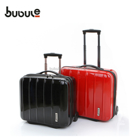 stylish cheap laptop trolley case 2 wheels hard plastic luggage PCD001-16/18