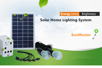Multifunction portable solar led light bulb with mobile charger Solar panel