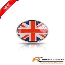 British Flag Oval Metal Car Emblem
