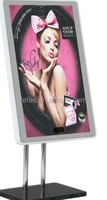 Wifi full HD network media player, High-end portable table stand magic mirror signage ad player