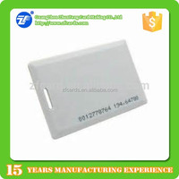 125khz tk4100 1.8mm thickness id card with serial numbers