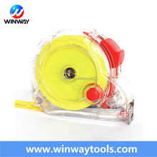 winway brand 65Mn carbon steel blade transparent durable tape measure