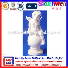 venta caliente de diseño personalizado la artesanía del polyresin angel querubín y estatuas religiosas