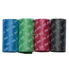 Colorful printing wholesale pet dog waste bag