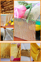Modern Fashion sequin Metallic fabric cloth curtain for backdrop or table cloth
