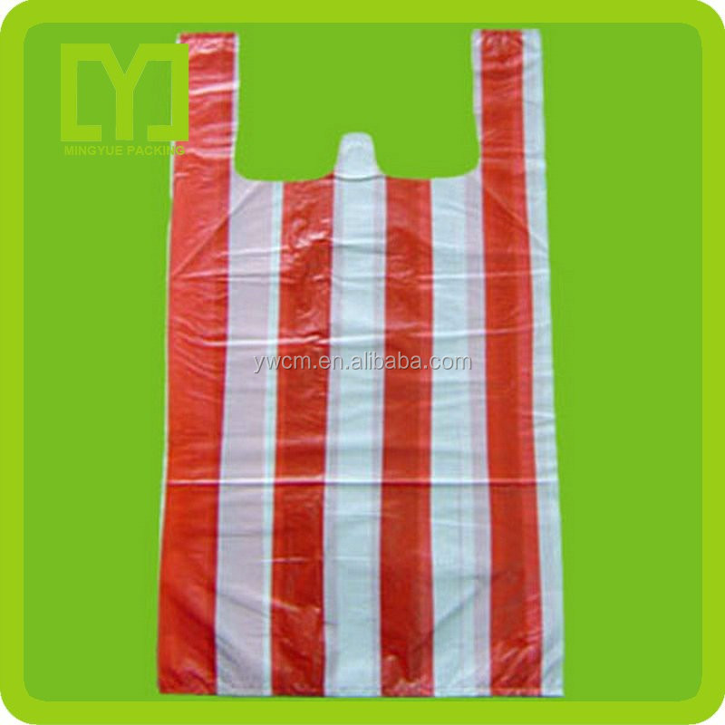 New material plastic packaging cheap t shirt shopping bag for Bags for t shirt packaging
