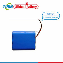 Favourable Price 6600mah 1x18650 Lithium Rechargeable Battery With 3.7Volt