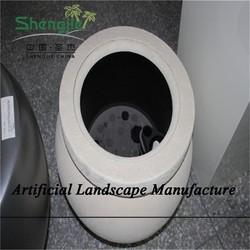 SJZJN 2617 new style elegant fiberglass plant pots/outside flower holders