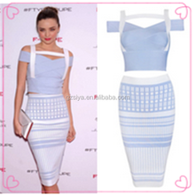 Two Piece Evening Dress Celebrity Bandage Bodycon Dress Wholesale