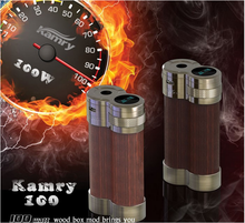 ecig wood mod 100W adjustable mechanical ecig mod parts 2015 New hot selling kamry 100 wood mod starter kit