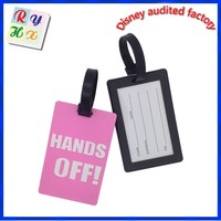 Adorable decoration gift plastic luggage tag for girls