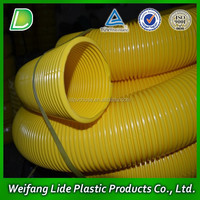 pvc corrugated discharge hose with rigid pvc spiral