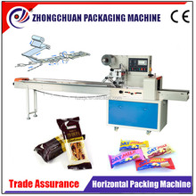 horizontal flow pack packing machine for chocolate bar