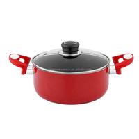 Aluminium non-stick food pot with lid