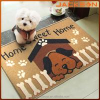 Eco friendly decor mat,100% polyester pet rug