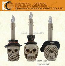"""4.5"""" IC Light Resin Skull Statue Halloween Resin Skull"""