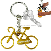 High quality Bicycle Key Rings Aluminum Cycling Bottle Opener(Gold)