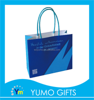 factory customized creative style small art paper bag withtwo-dimension code designed