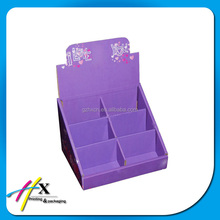 Customized purple display case for promotion