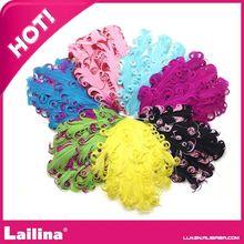 nuevo y encantador colorido rizado pluma almohadillas de venta al por mayor