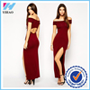 Trade Assurance Yihao Fashion Sexy Bodycon Strapless Sexy Off shoulder Short-Sleeve Long Maxi Dresses Dress for Women 2015
