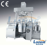 Cosmetic cream emulsifying machine, ss pneunmatic hydraulic lifting vacuum homogenizing emulsifying blender