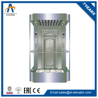 Small auto passenger home panoramic glass elevator