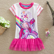 (H4927#White)3-8Y children gowns My little pony baby girl tutu top