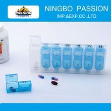 Plastic Pill Box / Plastic Medicine Boxes /14 case Pill Box with Spring