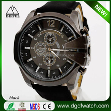 Alibaba Hottest Product Classic Big Dial Leather Strap V6 Sport Watch For Men
