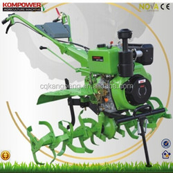Power tiller 12hp 9kw for high land stony soil tructor cultivator with various implements