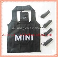 Promotion Custom Polyester reusable Foldable shopping bag/folding shopping bag