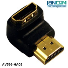 LC Factory price HDMI adapter male to male, R.A hdmi 1.4 adapter, hdmi extension adapter