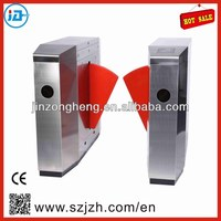 Hotel Entrance Retractable Flap Barrier,Electronic Subway Gate, Security System Flap Turnstile Gate