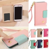High Quality Luxury Bird PU Leather Wallet Flip Case Cover For LG Optimus F6 D500