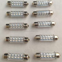 High quality festoon 42mm 10LED 12V Blue plus transparent tube Led car light